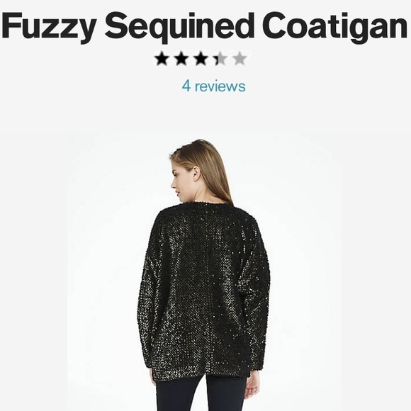 Express Jackets & Coats - Express fuzzy sequin jacket