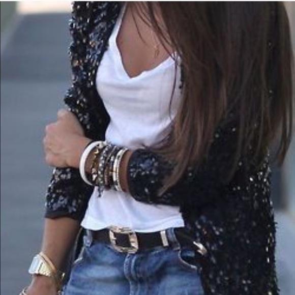 Express Jackets & Blazers - Express fuzzy sequin jacket