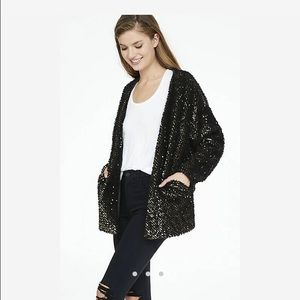 Express Jackets & Coats - Express fuzzy sequin jacket