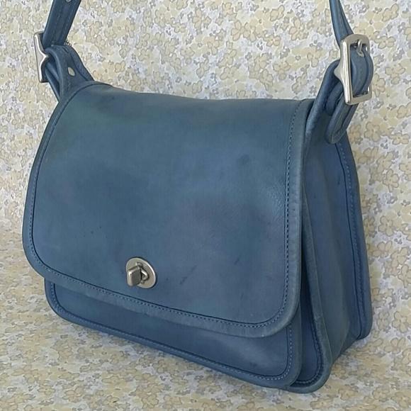 b10e22b39761 Coach Handbags - Vintage Coach 9061 Blue Ramblers Crossbody Handbag