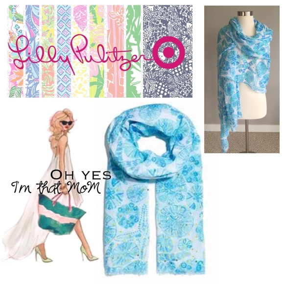 821040c1c389b3 Lilly Pulitzer for Target Accessories - Lilly Pulitzer for Target Sea  Urchin Scarf