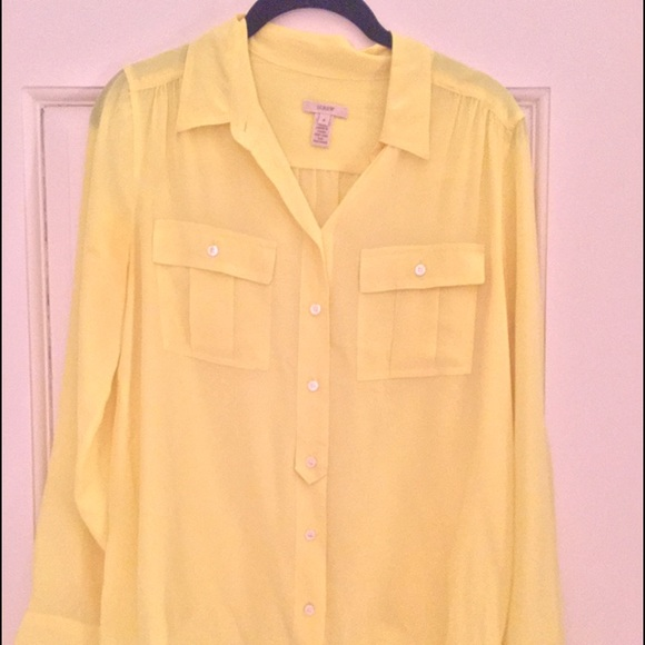 22225b100afc0 J. Crew Tops - Yellow silk JCrew