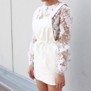 D g white floral dress zara