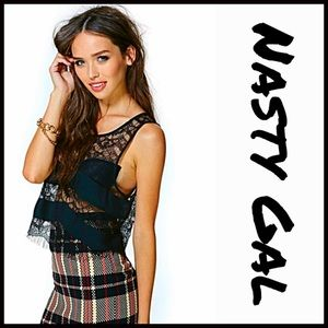 Nasty Gal Tops - ❗1-HOUR SALE❗NASTY GAL CROP TOP Crochet Lace