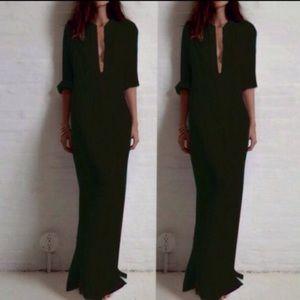 Boyfriend shirt maxi dress. 008