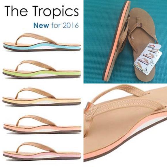 f9d47fe74c8f NWT Rainbow Sandals The Tropics Melon