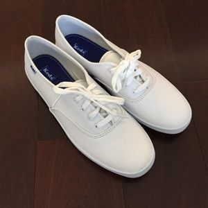Womens white keds leather size 9
