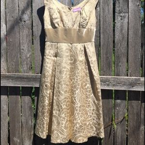 Gold Brocade and Velvet Vivienne Tam Dress