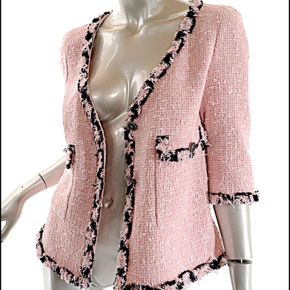59% off CHANEL Jackets & Blazers - CHANEL Runway 2007 Pink Boucle ...