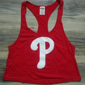 NWOT Cropped Phillies Tank by VS PINK.