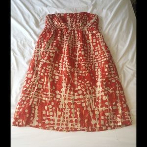 Red and Gold Shoshanna Dress