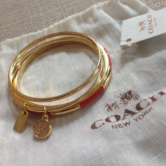 a7eaf1a2b Coach Jewelry | Set Of 3 Gold Bangles | Poshmark