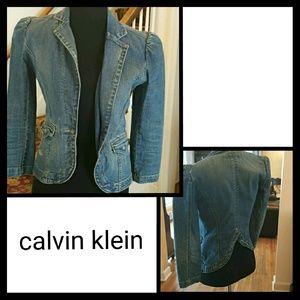 Distressed Calvin Klein Jean Jacket