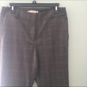 LOFT Flare Plaid Dress Pants