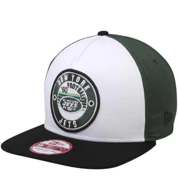 New Era New York Jets Retro Circle Snapback Hat 0a3e81a5ac3d