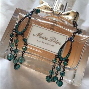 Blue Dangle • Statement Earrings