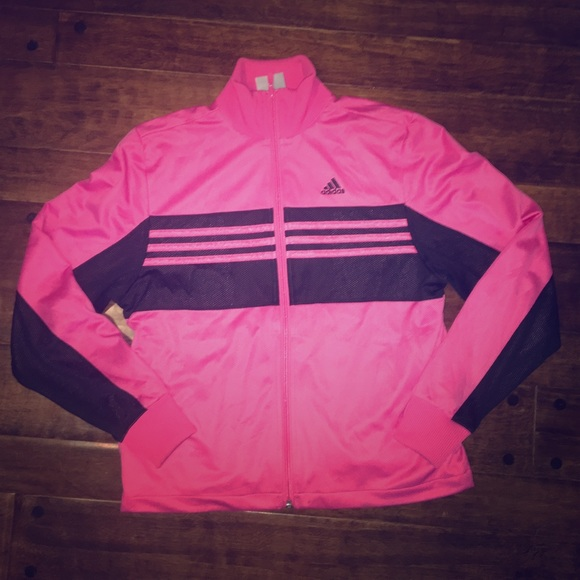 55% off Adidas Jackets & Blazers - Pink and Black Adidas jacket ...