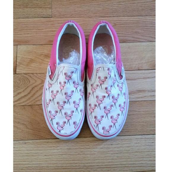 vans flamingo print shoes