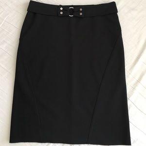 Express black stretch pencil skirt and belt