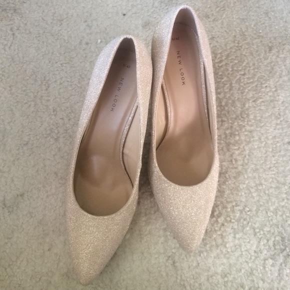 883b720f1a ASOS Shoes | Pinkish Nude Glitter Heel | Poshmark