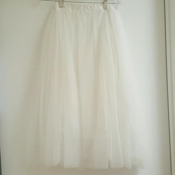 60 dresses skirts white tulle midi skirt from