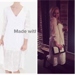 Atid Clothing Dresses & Skirts - 🇺🇸 American-Made White Lace Boho Midi Dress