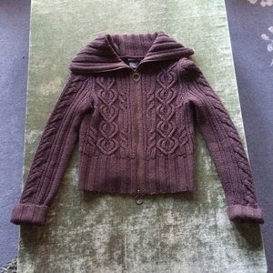 🎉Sale!🎉 Zippered Cable-Knit Cardigan