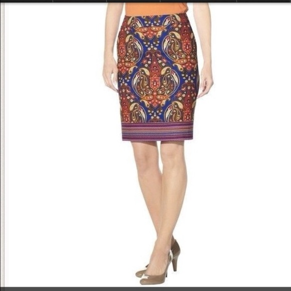 73 merona dresses skirts merona paisley pencil