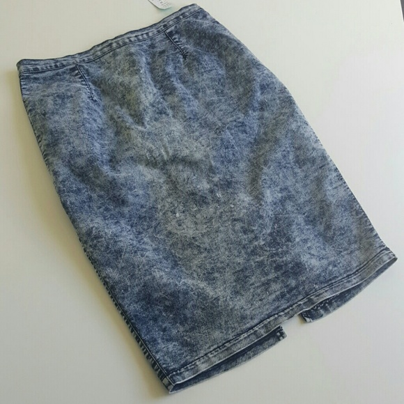 40 dresses skirts acid wash denim pencil skirt