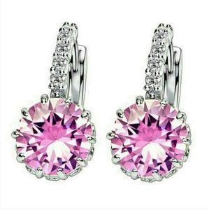 Jewelry - Pink Topaz Huggie Earrings