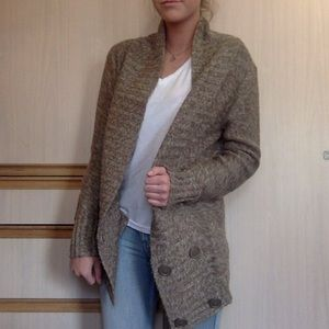 Oversized Brown Cardigan
