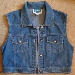 Sexy cropped jean jacket