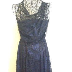 Sophie Theallet Dresses & Skirts - Sophie Theallet Black Lace Dress Over Blue; Size 6
