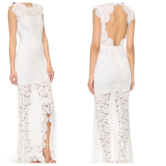 49cec1676a4a Rachel Zoe Dresses | Estelle Cutout Lace Gown White | Poshmark