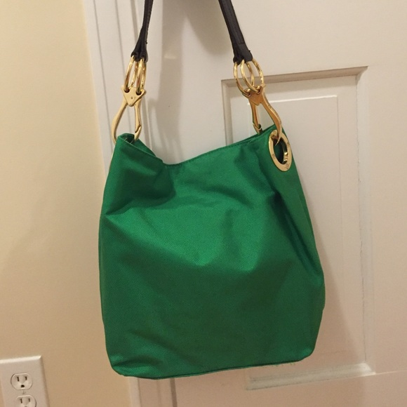 68728b452e79 JPK Paris Handbags - JPK Paris green nylon bag