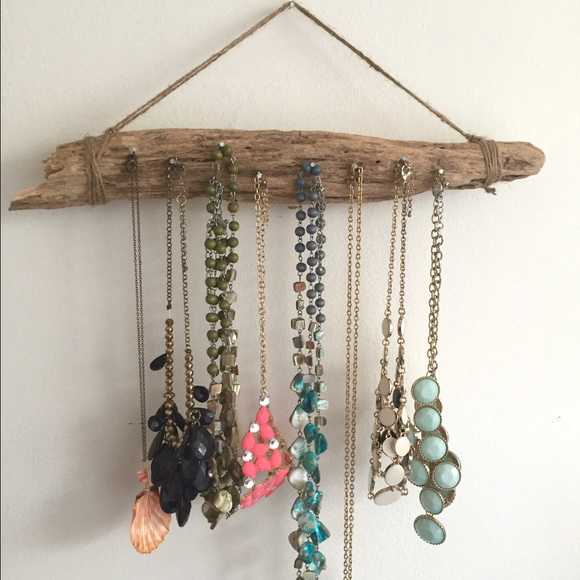 superb Driftwood Jewelry Holder Part - 6: Handmade Driftwood Necklace holder