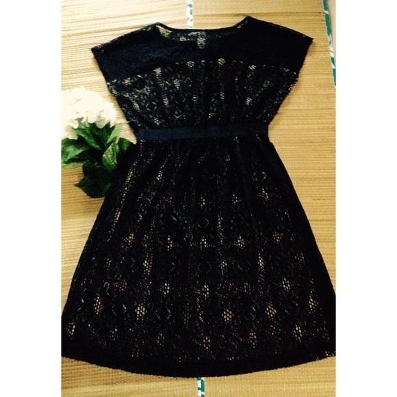 Emma & Michele Dresses & Skirts - 🌟Nude & Black Lace Cocktail Dress