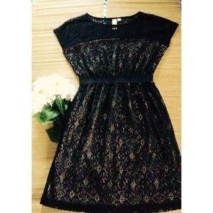 Emma & Michele Dresses - 🌟Nude & Black Lace Cocktail Dress