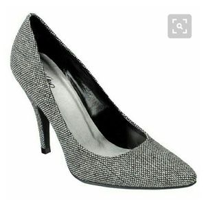 MOSSIMO DREW POINT TOE TWEED PUMPS