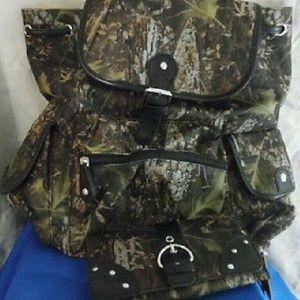 Handbags - SOLD Camouflage Back Pack & Wallet