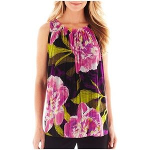 Floral pleated swing tank