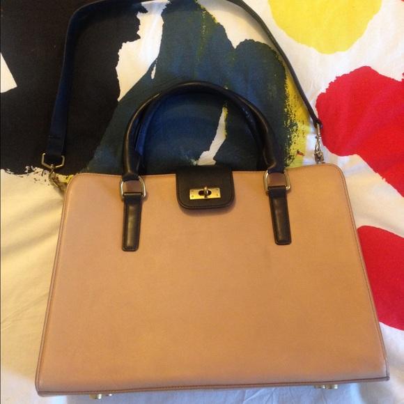 J. Crew Bags   J Crew Edie Attach Bag In Two Tone Blacktan   Poshmark 3801e8ea77