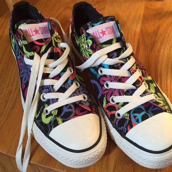 01e3f61098e3 Converse Shoes - Black and Neon Doodle Converse Sneakers