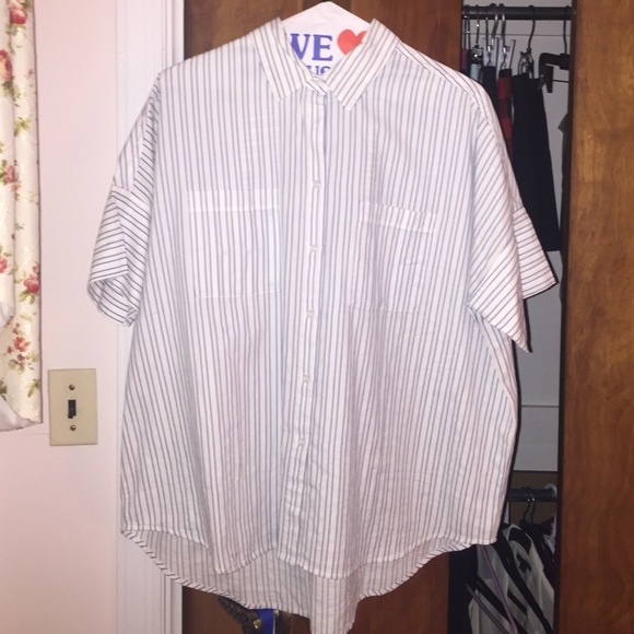 7a53db6d Madewell Tops | Striped Courier Shirt | Poshmark
