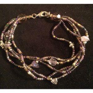 Jewelry - Purple Beaded Bracelet