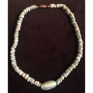 Jewelry - Turquoise Pooka Shell  Necklace