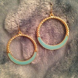 Jewelry - NWT Gold & Mint Fashion Hoop Earrings