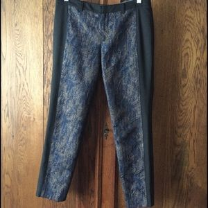 Anthropologie Cartonnier metallic panel tux pants