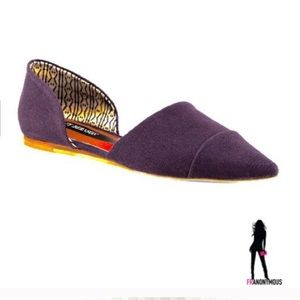 Matt Bernson Shoes - NIB Purple Canvas D'Orsay Flats 6