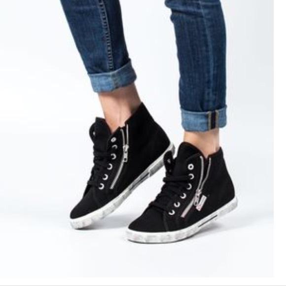 Superga Shoes | Black High Top Supergas